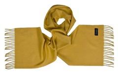Шерстяной шарф, мужской горчичный 17102