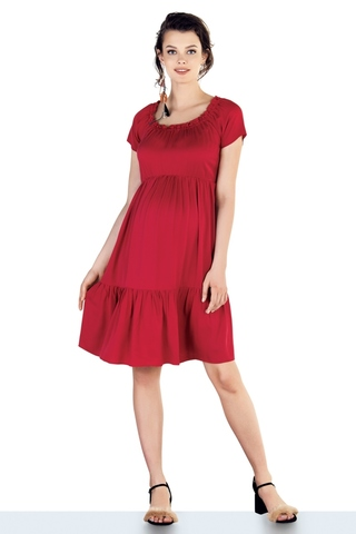 Платье для беременных 10209 красный