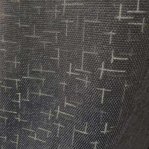 Блэкаут рогожка Штрихи темно-серые оптом и на отрез. Ш-280 см. Арт. BLDJ-R207R