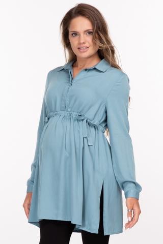Рубашка для беременных 10921 джинса