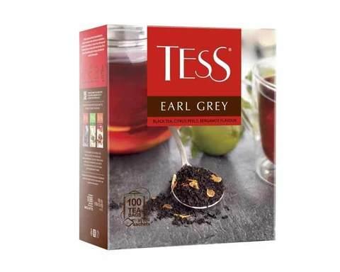 Чай черный в пакетиках Tess Earl grey 100 пак/уп, 1,8 г