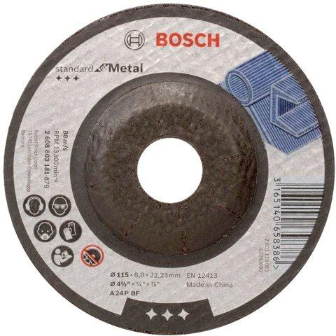 Круг шлифовальный Bosch Standard for Metal A 24 P BF 115 х 6 мм