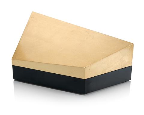 Cubist Box Gold and Black II