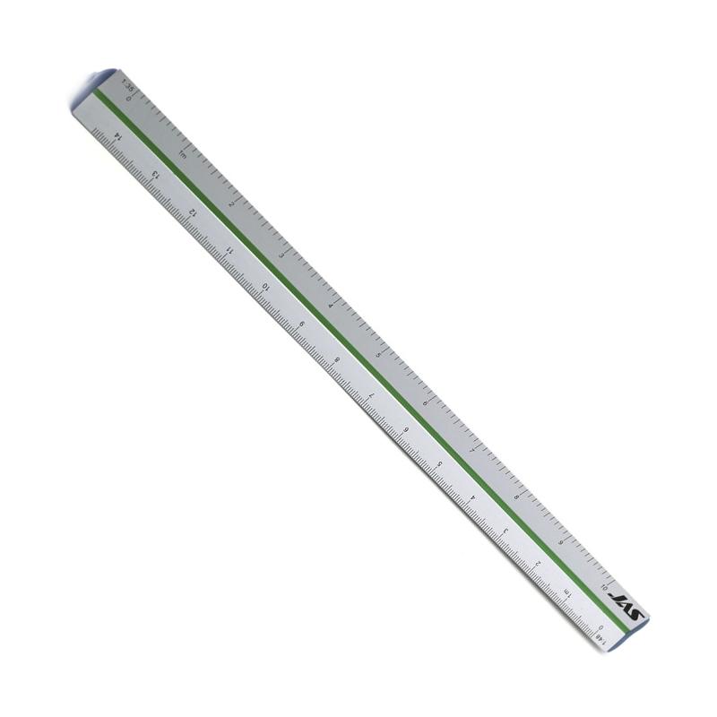 Прочие полезные аксессуары Линейка трехгранная, 6 масштабов, алюминиевая 4701.png