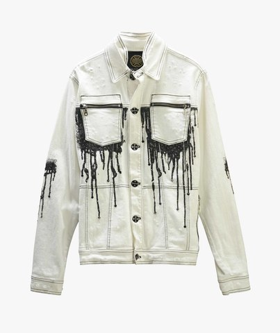 Куртка джинсовая The Saints Sinphony DRIP JACKET WHITE