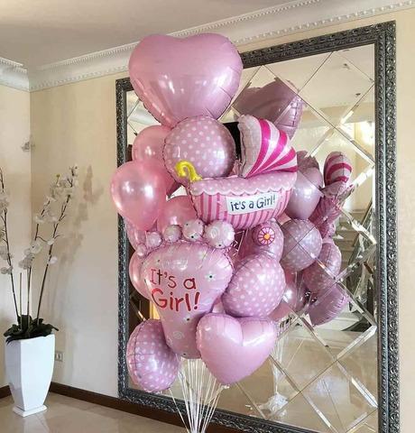 Набор шаров на выписку для девочки №5