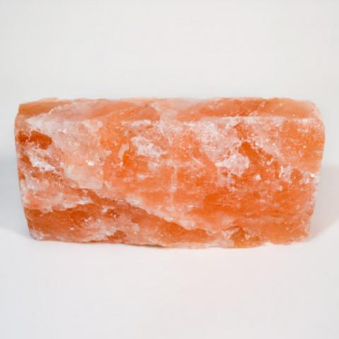 Кирпич из гималайской розовой соли 200x100x50 мм, с натуральной стороной