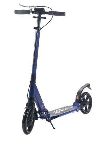 Самокат для взрослых Аteox Prime с большими колесами и ручным тормозом (синий)