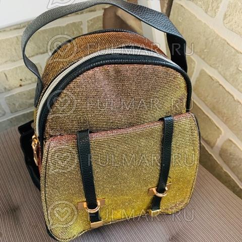 Рюкзак блестящий маленький женский