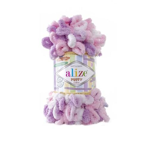 Купить Пряжа Alize Puffy Color Код цвета 6051 | Интернет-магазин пряжи «Пряха»