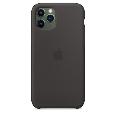 Чехол iPhone 11 Pro Max Silicone Case /black/ черный 1:1