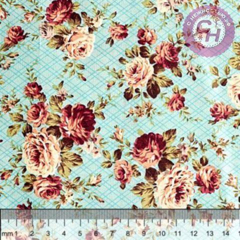 Ткань для рукоделия с рисунком 50*50 см, 100% хлопок.
