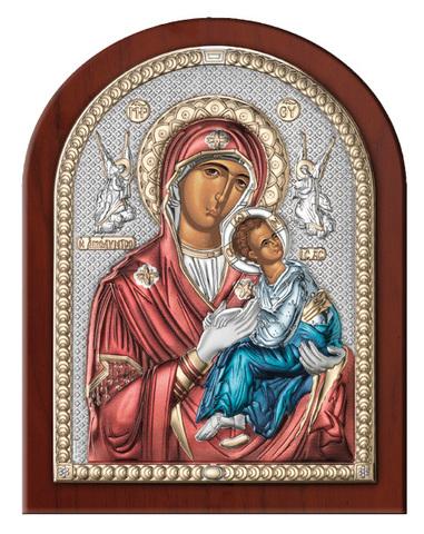 Серебряная икона Божия Матерь Страстная