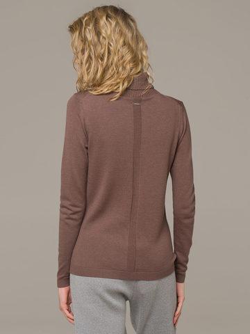 Женский джемпер коричневого цвета из шерсти и шелка - фото 2