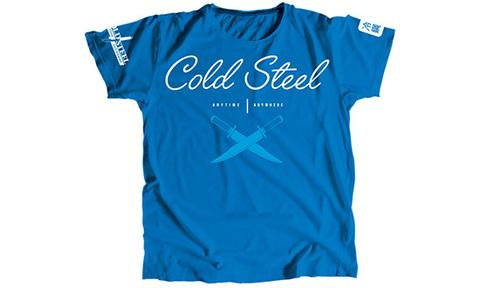 Футболка женская Cold Steel модель TK2 Cursive Blue Tee Shirt Women (M)