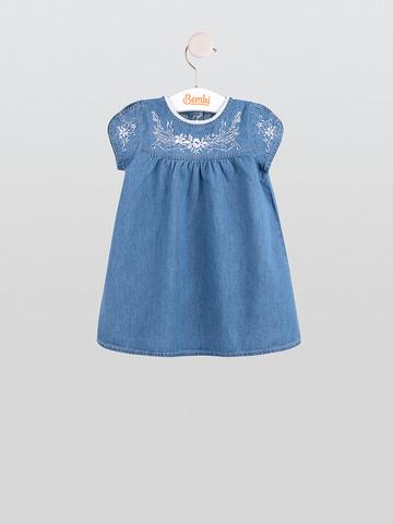 ПЛ214 Платье джинсовое для девочки