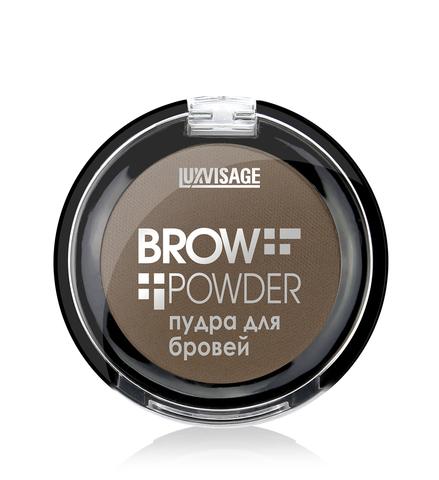 LuxVisage Пудра для бровей  Brow powder тон 3 (grey brow) 1.7г