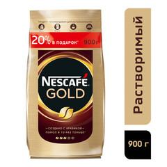 Кофе Nescafe Gold раств.субл.900г пакет