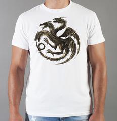 Футболка с принтом Игра престолов (Game of Thrones) белая 0011