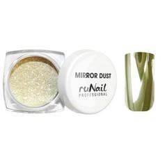 ruNail, Зеркальная пыль для втирки с аппликатором, Mirror Dust, золото