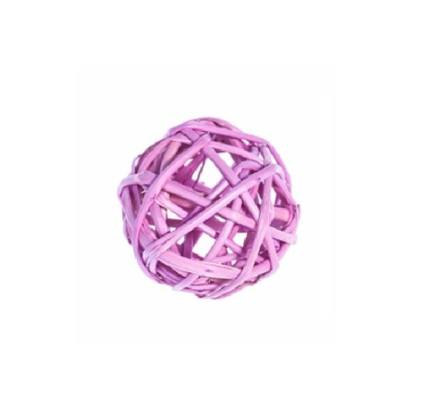 Плетеные шары из ротанга (набор:12 шт., d3см, цвет: сиреневый)