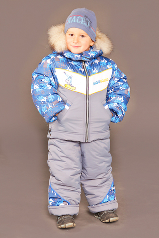 Зимний комбинезон-костюм Everest серый