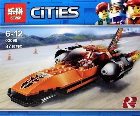 Конструктор Lepin 02099 Cities Гоночный автомобиль 87 дет.