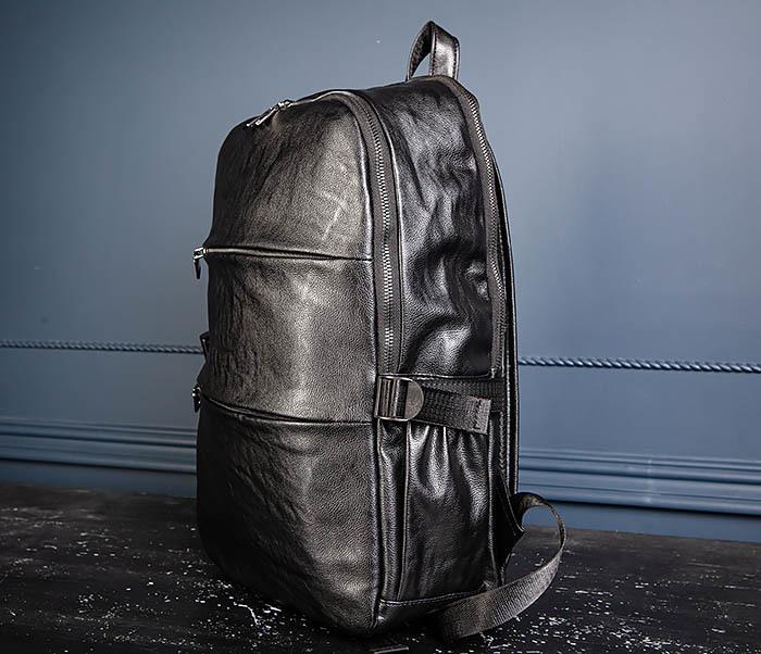 BAG527-1 Кожаный рюкзак с несколькими отделениями фото 07