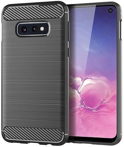 Чехол Samsung Galaxy S10e цвет Gray (серый), серия Carbon, Caseport