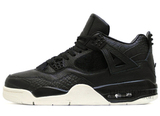 Кроссовки Мужские Nike Air Jordan 4 Retro Black  White Leather