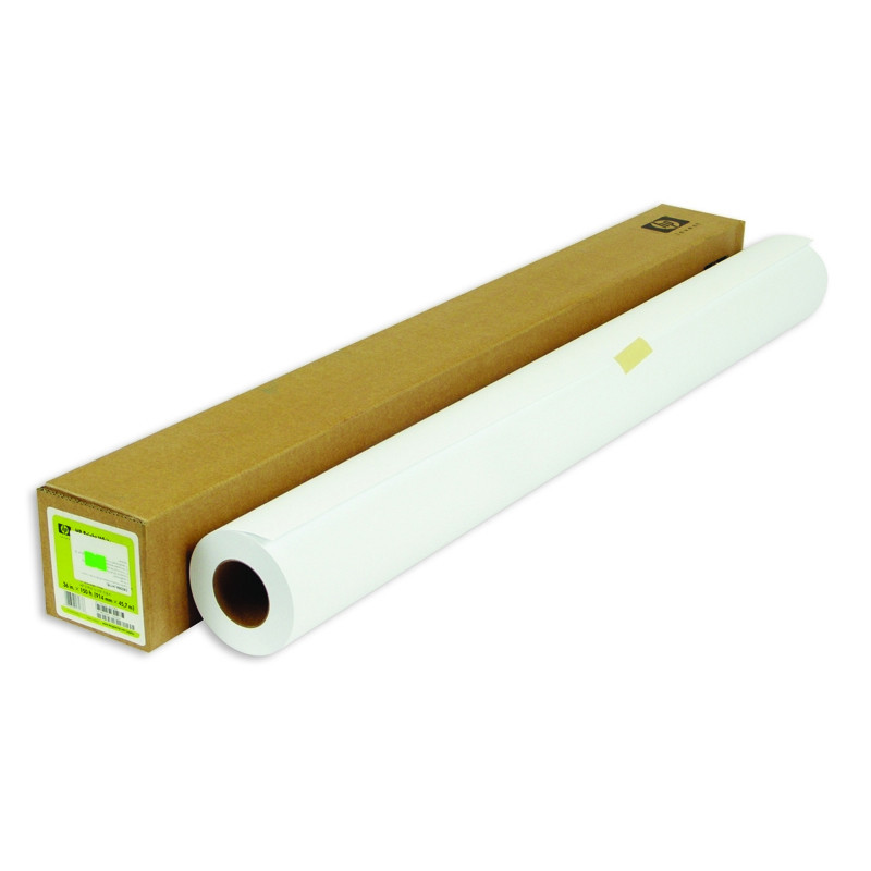 Бумага широкоформатная HP Bright White InkJet (длина 45.7 м, ширина 914 мм, плотность 90 г/кв.м, белизна 166% CIE, диаметр втулки 50,8 мм)