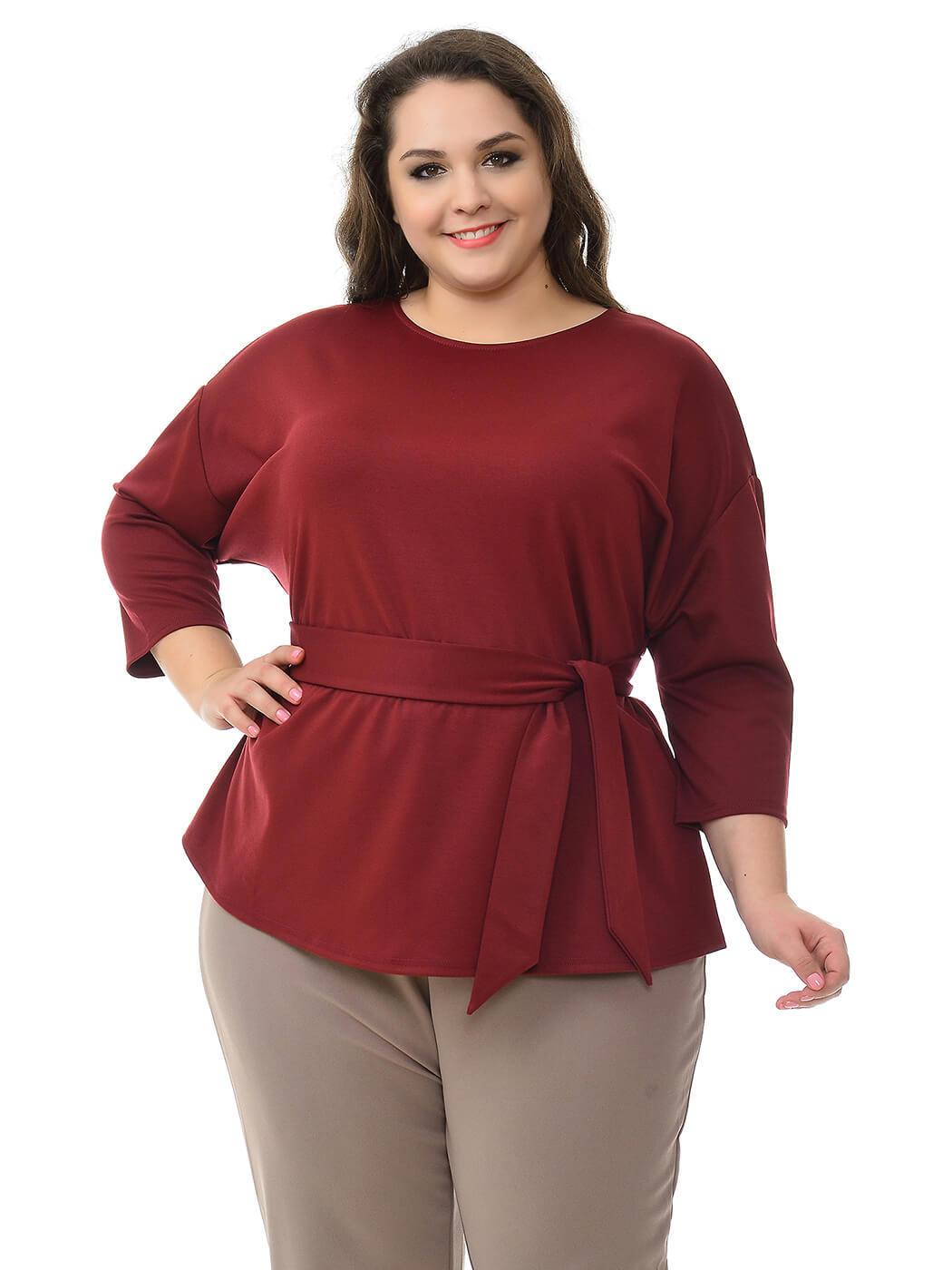 Свободная блуза из крепа
