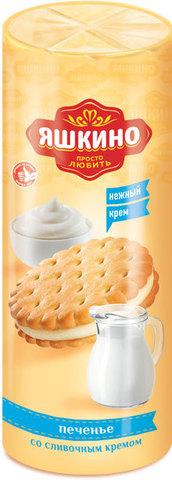 """Печенье """"Яшкино"""" затяжное со сливочным кремом, 182 г"""