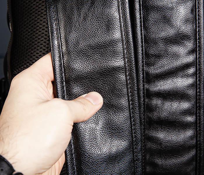 BAG527-1 Кожаный рюкзак с несколькими отделениями фото 09