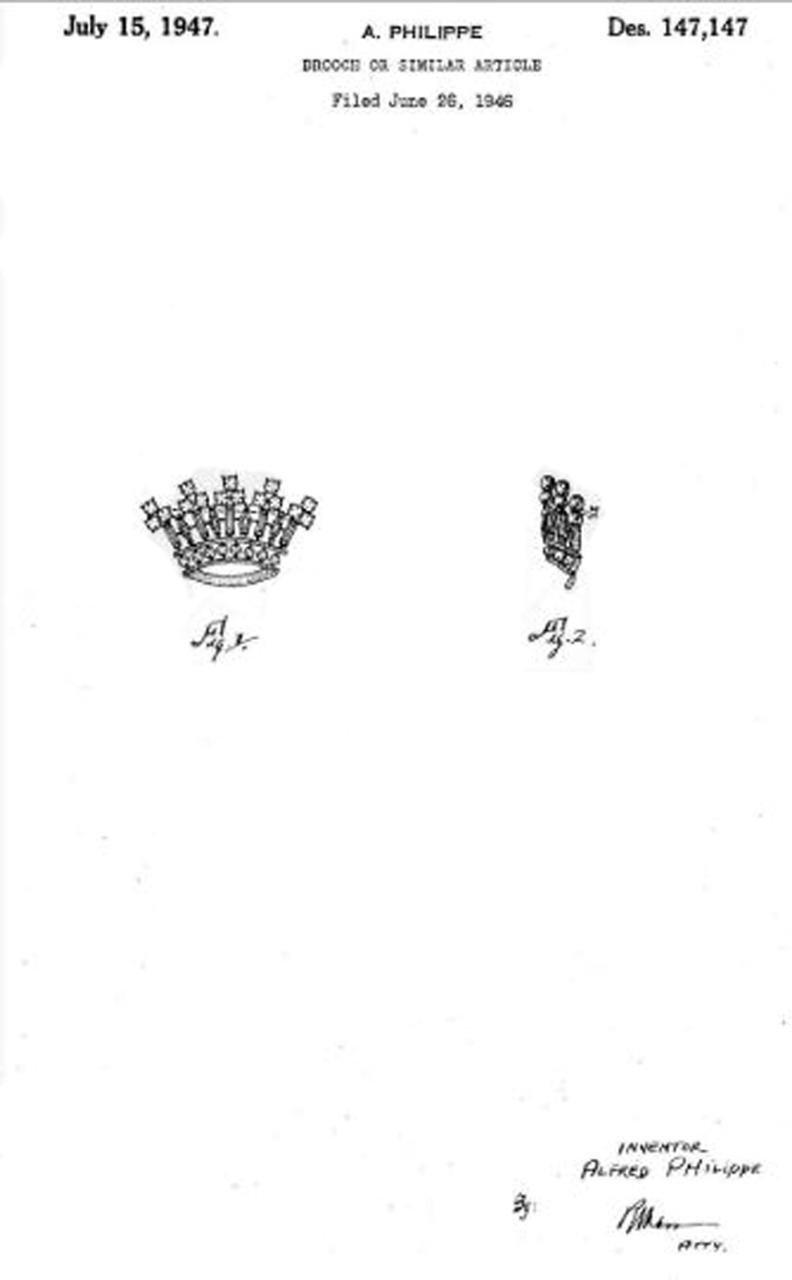 """Легендарный серебряный комплект от Trifari """"Короны"""" bookpiece"""