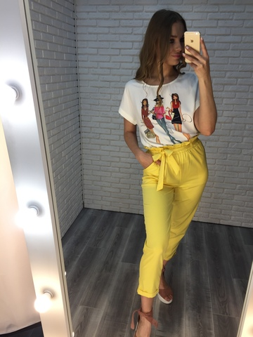 желтый летний костюм женский nadya