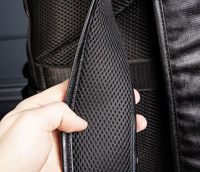 BAG527-1 Кожаный рюкзак с несколькими отделениями фото 10