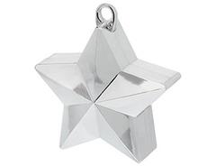 Грузик д/шара Звезда серебряная 170гр