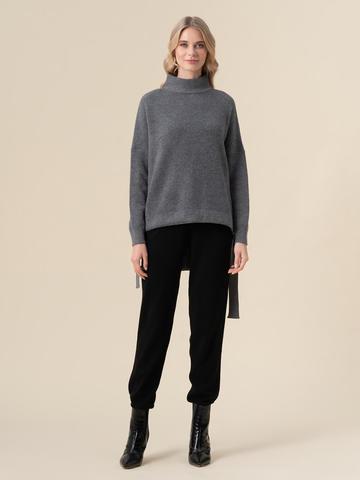 Женский свитер темно-серого цвета из 100% кашемира - фото 5