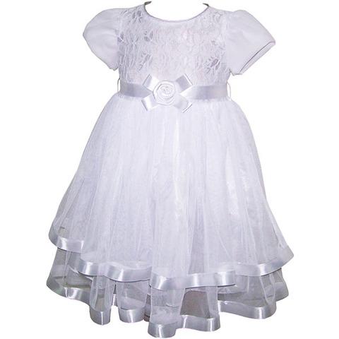 Платье с гипюром белое р.3,4,5,6