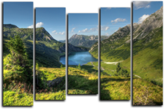 "Модульная картина ""Мощные горы"""