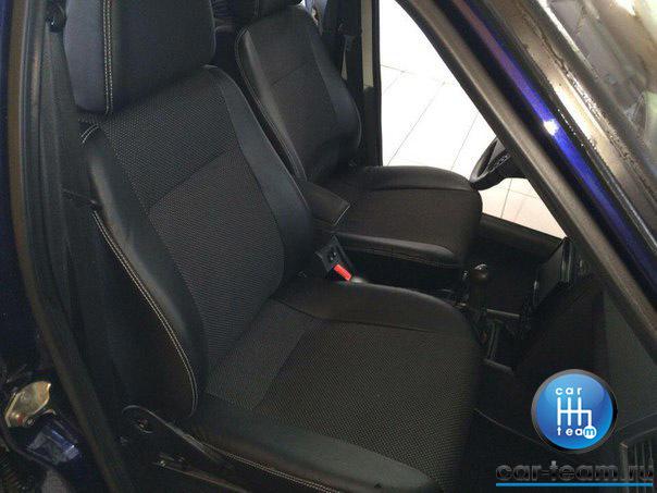 Обивки сидений на ВАЗ из экокожи + ткань