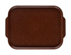 Поднос столовый 450х350 мм с ручками коричневый