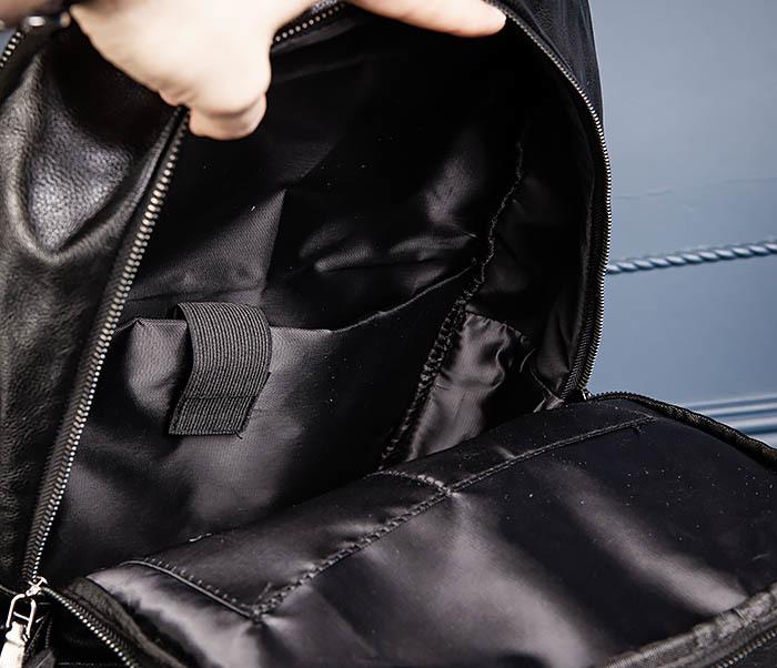 BAG527-1 Кожаный рюкзак с несколькими отделениями фото 13