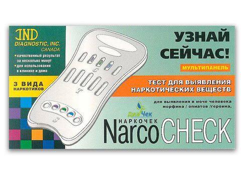 Тест-кассета NARCOCHEСK  мультипанель (3 вида) выявления в моче