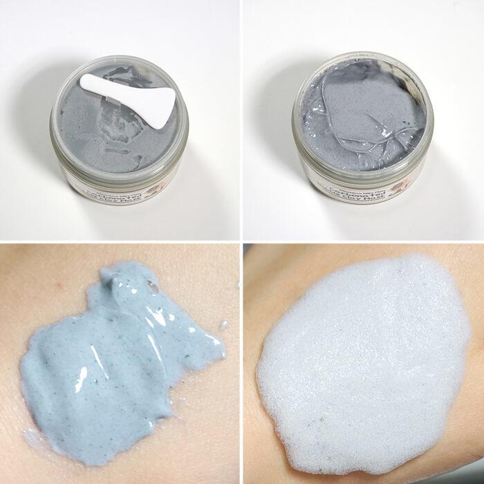 Elizavecca Carbonated Bubble Clay Mask глубоко очищает и сужает поры, удаляет черные точки, разбивает жировую пробку