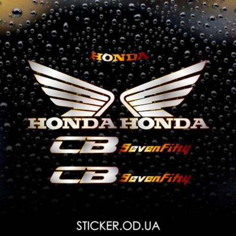 Набор виниловых наклеек на мотоцикл Honda CB 750 Sevenfifty 92-98