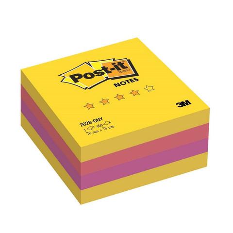 Стикеры Post-it Optima куб 2028-ONY 76х76 лето 400 л.