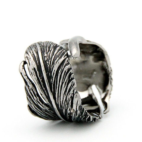 Кольцо Перо ( черное)