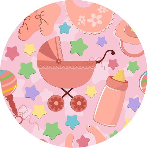 Печать на сахарной бумаге, С Новорожденным 10